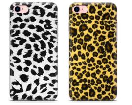 iPhone 7 / 8 Soft TPU Hoesje Luipaard Print Bruin / Wit