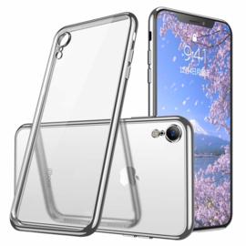 iPhone Xr Soft TPU Hoesje Met Coating Goud / Zilver / Zwart
