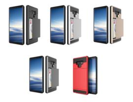 Galaxy Note 20 Slide Armor Hoesje Met Pashouder