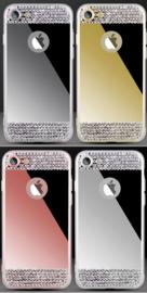 Iphone 7 / 8 Bling Spiegel Hoesje Met Strass-Steentjes