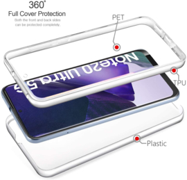 Galaxy Note 20 Ultra 360° Ultra Clear Hybrid PC + TPU Hoesje