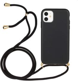 iPhone 11 Crossbody TPU Hoesje met Koord Zwart