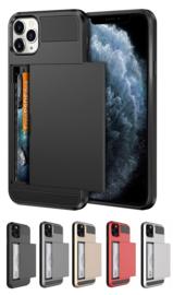 iPhone 11 Pro Max Slide Armor Hoesje Met Pashouder