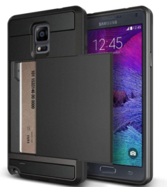 Galaxy Note 4 Slide Armor Hoesje Met Pashouder