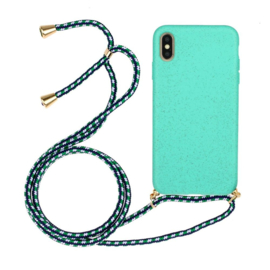 iPhone X / Xs Crossbody TPU Hoesje met Koord Mint