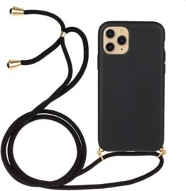 iPhone 11 Pro Crossbody TPU Hoesje met Koord Zwart