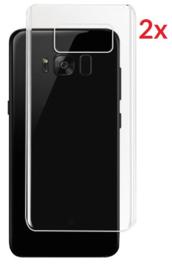 2 STUKS Galaxy S8 Transparant Folie Achterkant Protector