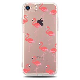 iPhone 7 / 8 Soft TPU Hoesje Flamingo Print