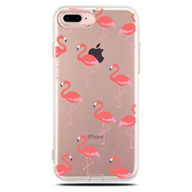 iPhone 7 / 8 Plus Soft TPU Hoesje Flamingo Print