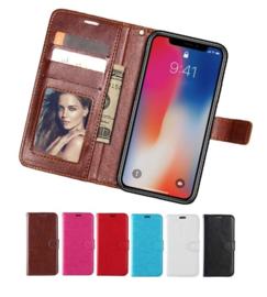 iPhone Xs Max Leren Portemonnee Hoesje Met Pasfotovakje