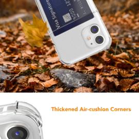 iPhone 12 Mini Transparant TPU Hoesje Met Card Slot - Pasjesvakje