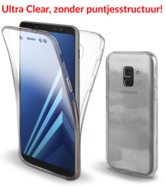 Galaxy A8 (2018) 360° Ultra Clear Hybrid PC + TPU Hoesje