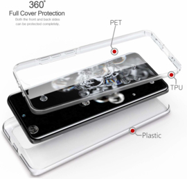 Galaxy S20 Ultra 360° Ultra Clear Hybrid PC + TPU Hoesje