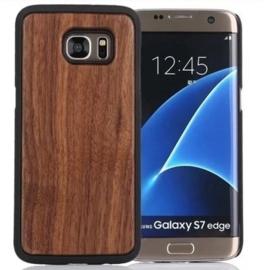 Galaxy S7 Edge Echt Houten Hoesje - Wood Case - 6 Houtsoorten