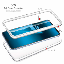 Galaxy A40 360° Ultra Clear Hybrid PC + TPU Hoesje