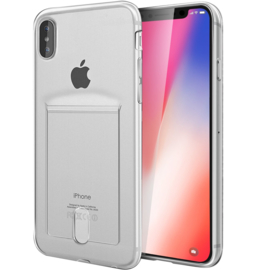 iPhone Xr Transparant TPU Hoesje Met Card Slot - Pasjesvakje