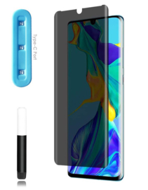 Huawei P30 Pro Privacy UV Liquid Glue Tempered Glass Protector