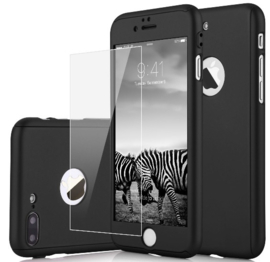 iPhone 7 Plus / 8 Plus 360° Full Cover Case Hoesje incl. Tempered Glass