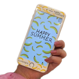 iPhone 6 / 6S Tempered Glass Protector Met Print - Banaan