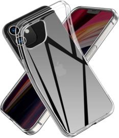 iPhone 12 Mini Premium Soft TPU Hoesje Transparant