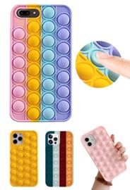iPhone 7 Plus / 8 Plus Pop It Fidget Toy Hoesje Soft TPU