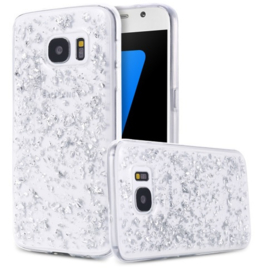 Galaxy S7 TPU Bling Glitterhoesje Bladgoud - Look