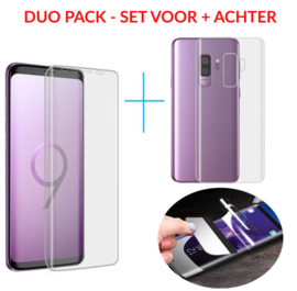 SET 2 STUKS Galaxy S9 Plus Premium 3D Folie Screen + Back Protector