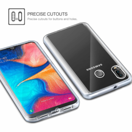Galaxy A20E 360° Ultra Clear Hybrid PC + TPU Hoesje