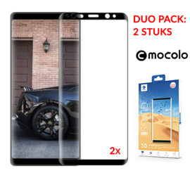 2 STUKS Note 8 Mocolo Premium Full Body 3D Tempered Glass Protector