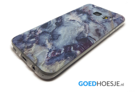 Galaxy S7 Edge Soft TPU Hoesje Marmer Design Dark & Wild
