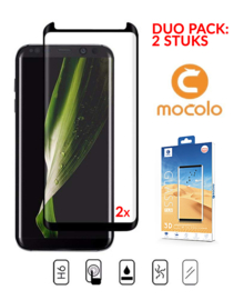 2 STUKS Galaxy S8 Plus Mocolo Premium 3D Case Friendly Tempered Glass Protector
