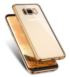 Galaxy S8 Soft TPU Hoesje Met Coating Goud / Zilver / Grijs