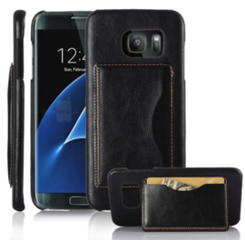 Galaxy S7 Edge Leren Back Cover Hoesje Met Pasjesvakje