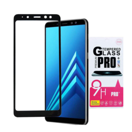 Galaxy A8 (2018) 3D Carbon Tempered Glass Screen Protector