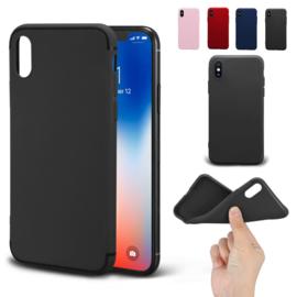 iPhone Xs Max TPU Matte Kleuren Hoesje Zwart / Rood / Roze / Blauw