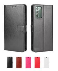 Galaxy Note 20 Leren Portemonnee Hoesje Met Pasfotovakje