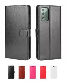 Galaxy Note 20 Ultra Leren Portemonnee Hoesje Met Pasfotovakje