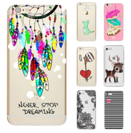 Iphone 5 / 5S / SE Soft TPU Hoesje Met Diverse Prints