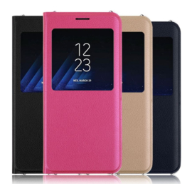 Galaxy A6 Plus (2018) Window View Flip Cover incl. Smart App
