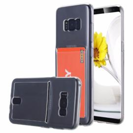 Galaxy S8 Plus Transparant TPU Hoesje Met Pasjesvakje