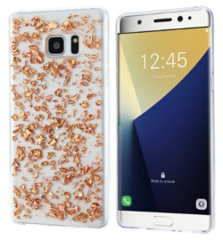 Galaxy S7 Edge TPU Bling Glitterhoesje Bladgoud - Look