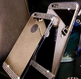 Iphone 6 / 6S Bling Spiegel Hoesje Met Strass-Steentjes
