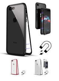 Iphone 7 / 8 Magnetisch Voor + Achter Hoesje + Tempered Glass