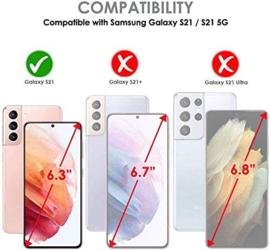 Galaxy S21 360° Ultra Clear Hybrid PC + TPU Hoesje