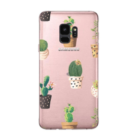 Galaxy S9 Plus Soft TPU Hoesje Cactus Print