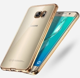 Galaxy S7 Edge Soft TPU Hoesje Met Coating Goud / Zilver / Grijs