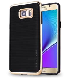 Galaxy S5 Motomo 3 in 1 Hybrid Case Hoesje Goud / Zilver