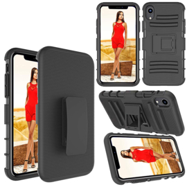 iPhone Xr Heavy Duty Tough Armor Hoesje 3 in 1