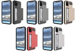 iPhone 12 Pro Max Slide Armor Hoesje Met Pashouder