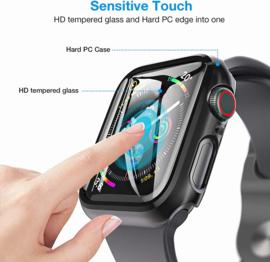 Apple Watch 2/3/4/5/6/SE Hard PC + Tempered Glass Hoesje